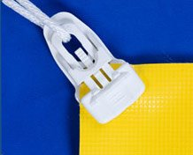 Large White PowerClip on yellow banner