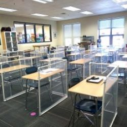 school with partitions